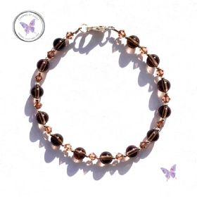 Smokey Quartz Crystal Bracelet